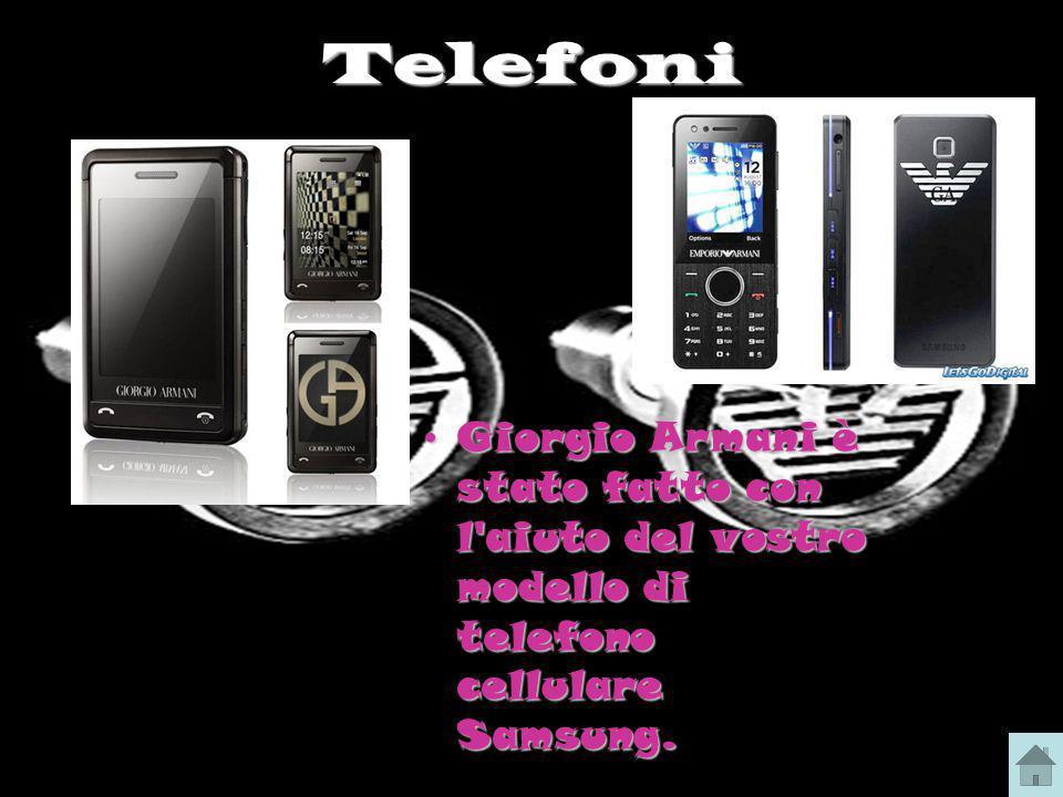 Telefoni Giorgio Armani è stato fatto con l'aiuto del vostro modello di telefono cellulare Samsung.Giorgio Armani è stato fatto con l'aiuto del vostro