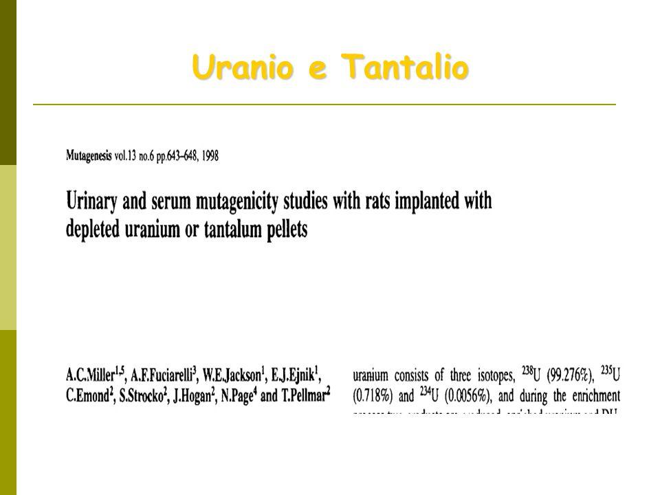 Uranio e Tantalio