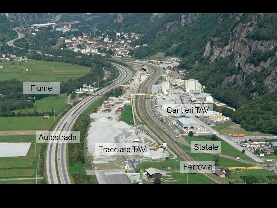 Fiume Autostrada Ferrovia Statale Tracciato TAV Cantieri TAV
