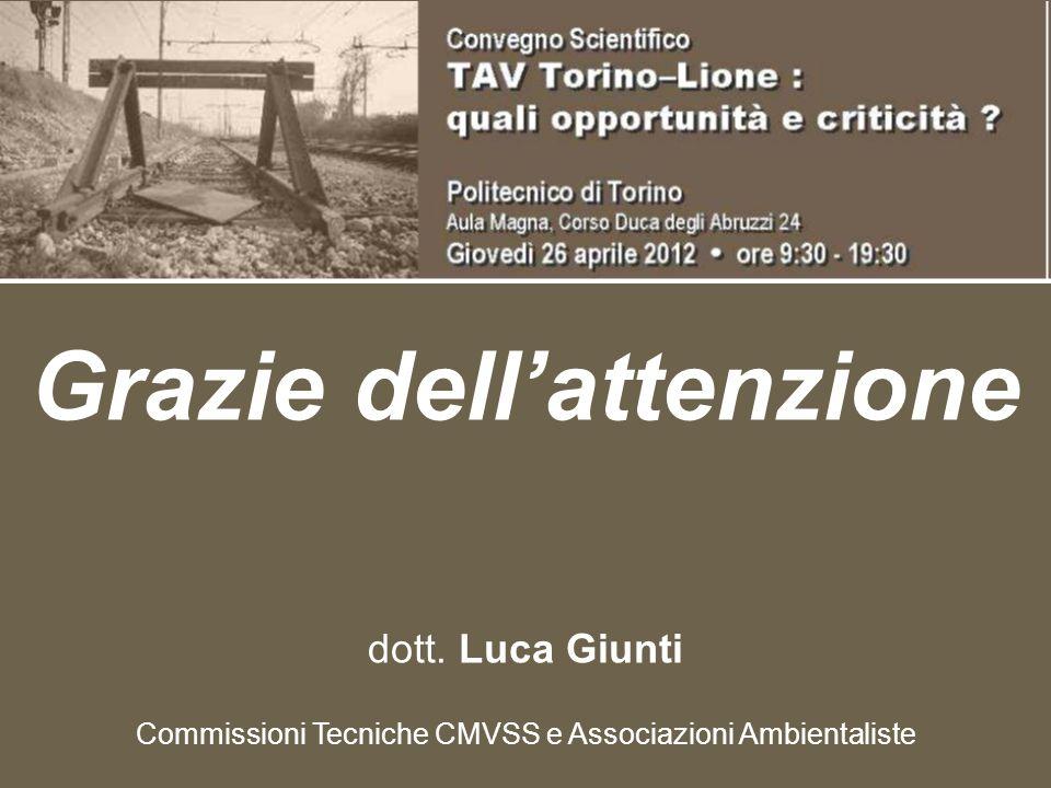 Grazie dell'attenzione dott. Luca Giunti Commissioni Tecniche CMVSS e Associazioni Ambientaliste