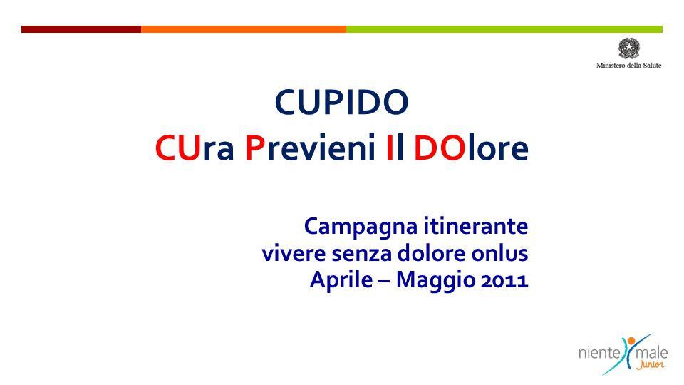 CUPIDO CUra Previeni Il DOlore Campagna itinerante vivere senza dolore onlus Aprile – Maggio 2011