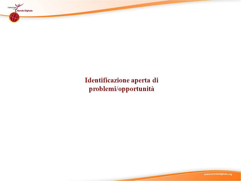 Identificazione aperta di problemi/opportunità