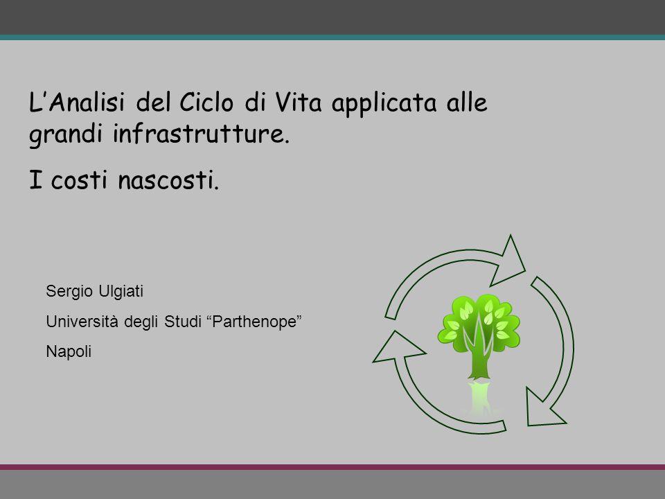 """L'Analisi del Ciclo di Vita applicata alle grandi infrastrutture. I costi nascosti. Sergio Ulgiati Università degli Studi """"Parthenope"""" Napoli"""