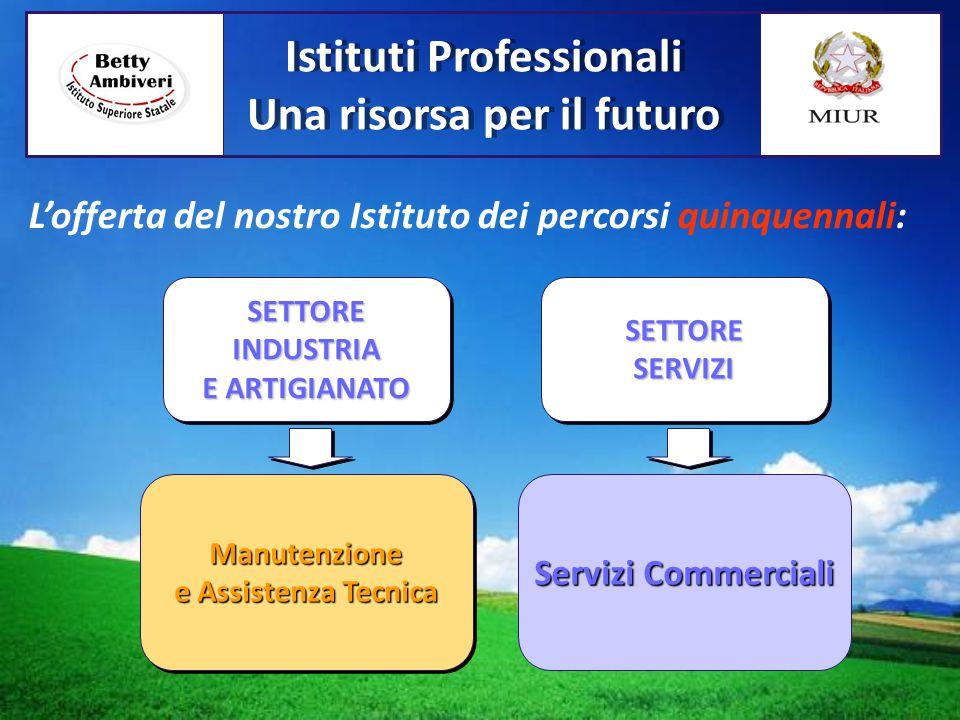 SETTOREINDUSTRIA E ARTIGIANATO SETTOREINDUSTRIA Manutenzione e Assistenza Tecnica Manutenzione SETTORE SERVIZI SETTORE SERVIZI Servizi Commerciali L'o