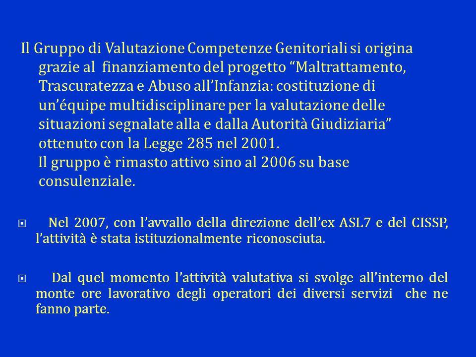  Nel 2007, con l'avvallo della direzione dell'ex ASL7 e del CISSP, l'attività è stata istituzionalmente riconosciuta.