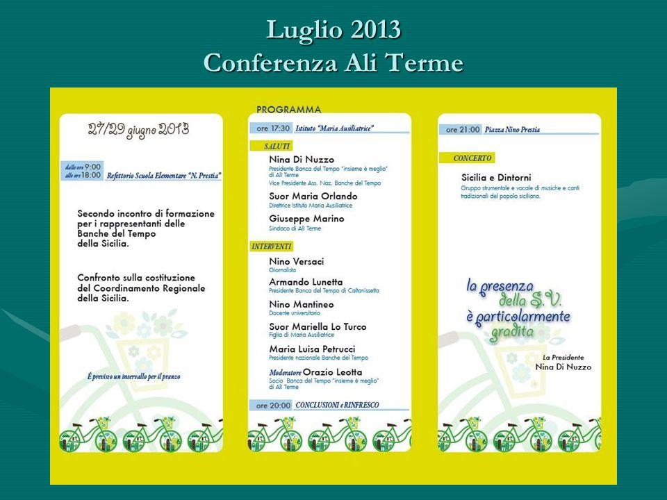 Luglio 2013 Conferenza Ali Terme