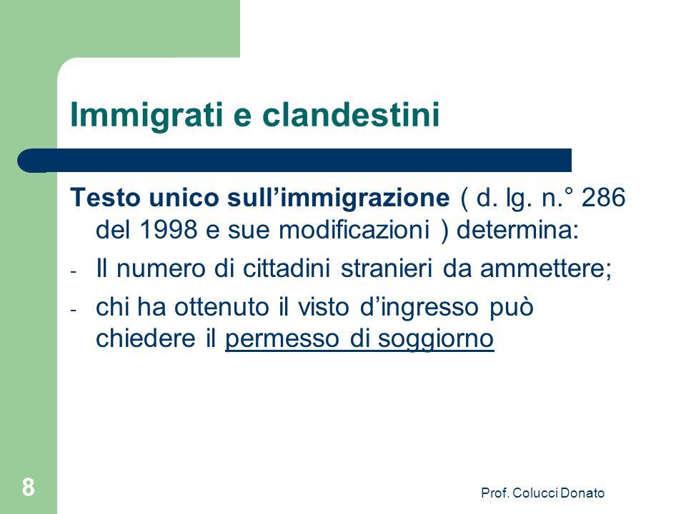 Immigrati e clandestini Per fronteggiare l'immigrazione clandestina i governi europei operano in tre modi: 1- contrastare il fenomeno con accordi con Paesi vicini; 2- stabilire i limiti numerici di accesso; 3- favorire l'integrazione.