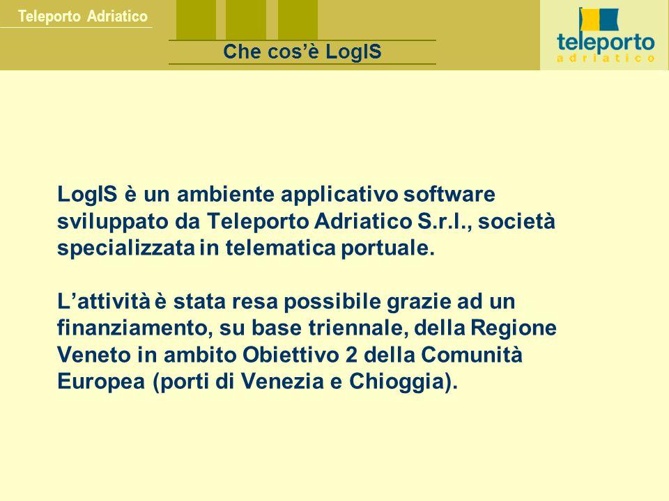 LogIS è un ambiente applicativo software sviluppato da Teleporto Adriatico S.r.l., società specializzata in telematica portuale. L'attività è stata re