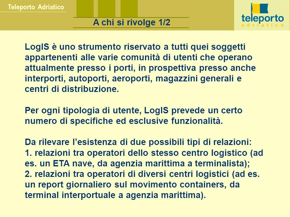 La tecnologia utilizzata Lotus Notes E-MAIL REPLICATION WEB PUBLISHING WORK FLOW DOMINO DOCUMENT MANAGEMENT & REPOSITORY SECURITY INTEGRATION STANDARDS Teleporto Adriatico La tecnologia utilizzata