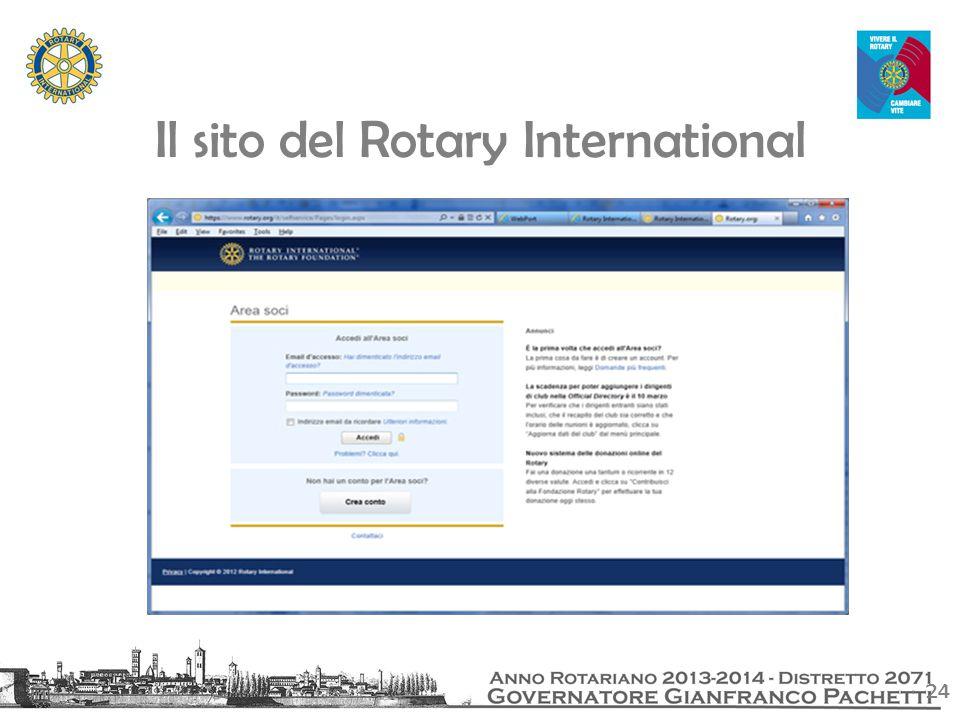 24 Il sito del Rotary International