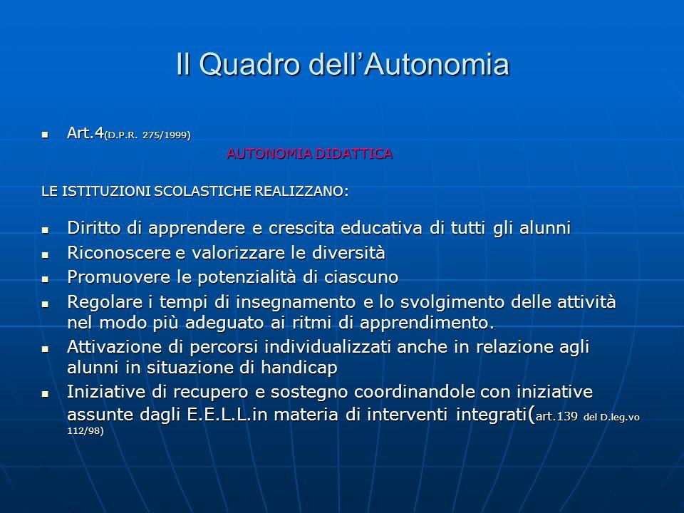 In Italia abbiamo 77.OOO docenti impegnati nel sostegno 150.000 ragazzi con problemi di disabilità La Legge 104/92 va oggi letta Nel quadro dell'auton