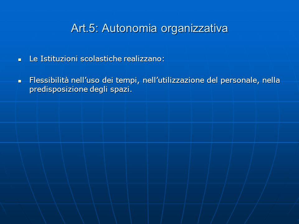 Il Quadro dell'Autonomia Art.4 (D.P.R. 275/1999) Art.4 (D.P.R. 275/1999) AUTONOMIA DIDATTICA AUTONOMIA DIDATTICA LE ISTITUZIONI SCOLASTICHE REALIZZANO