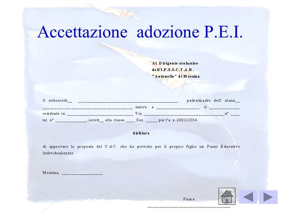 Destinatari: i genitori Oggetto: proposta adozione P.E.I. Si comunica alla S.V., che il C.d.c., dopo aver esaminato, con opportuni accorgimenti, il li
