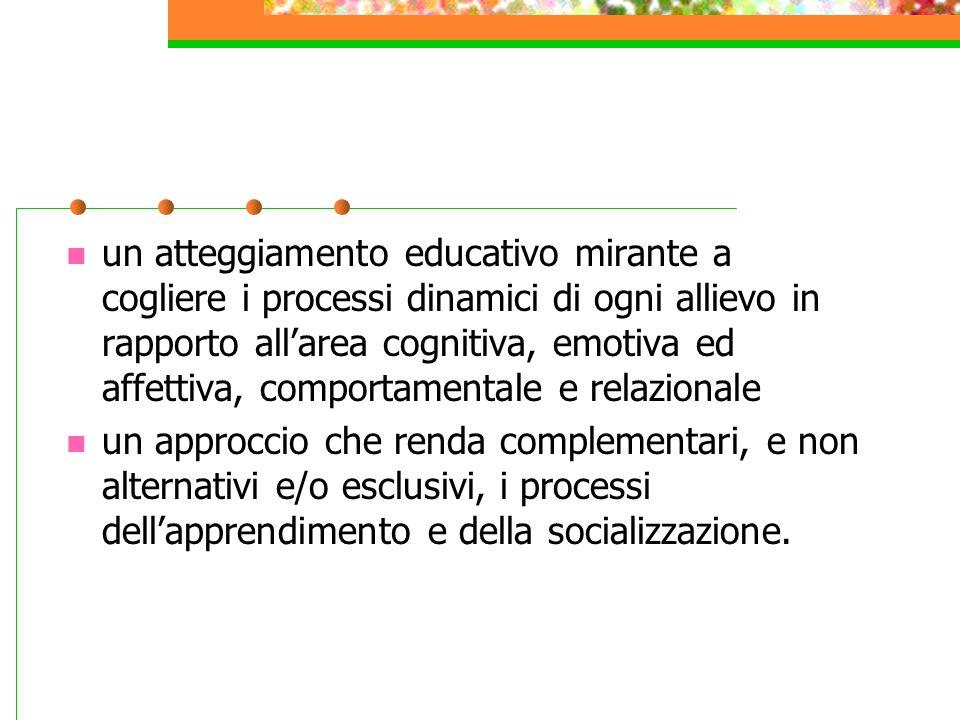 Il processo di integrazione richiede: un'ottica sistemica, nella quale si realizza la correlazione dei diversi interventi educativi e l'integrazione d