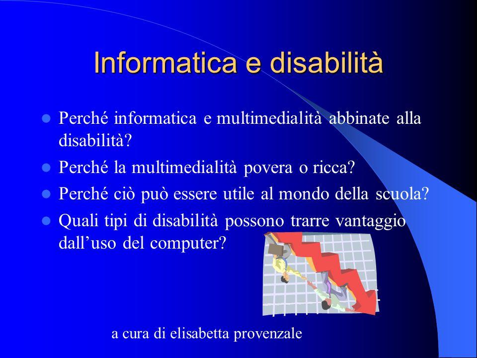 Obiettivi Realizzare nuove modalità di spesa dei fondi per l'integrazione dell'handicap. Ottimizzare le risorse per una utenza più ampia. Monitorare i