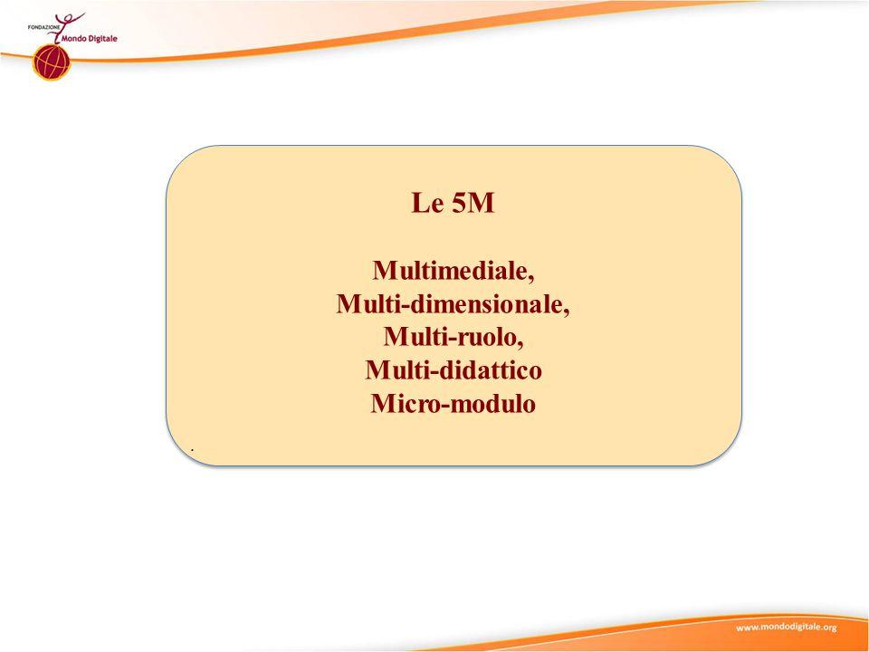 Le 5M Multimediale, Multi-dimensionale, Multi-ruolo, Multi-didattico Micro-modulo.