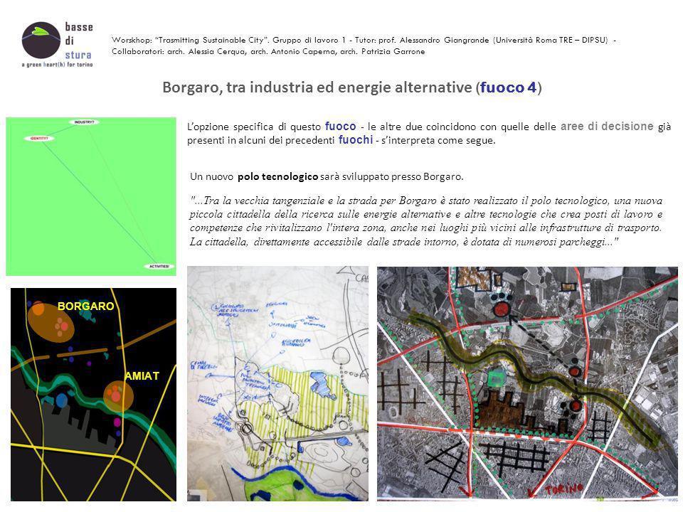 Basse di Stura, non più isolata dal resto della città, rivitalizza l'immagine e gli spazi della periferia urbana (fuoco 5) Il confine tra Basse di Stura e la città non sarà netto, bensì 'sfumato'.