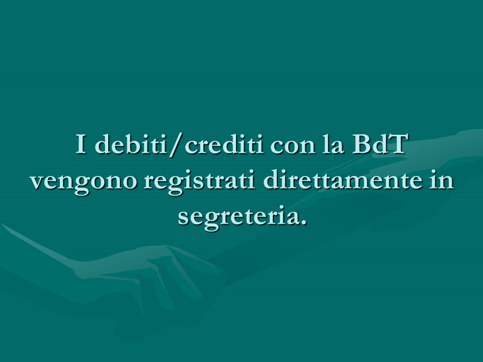 FONDO ORE BdT I soci a debito possono scomputare le ore ricevute collaborando con la Bdt nella gestione amministrativa nell'organizzazione di eventi, riunioni, in cene conviviali