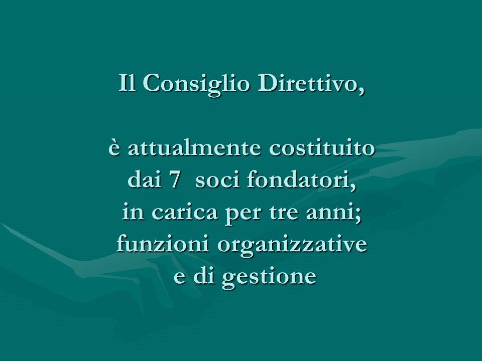 L'assemblea dei Soci Aderenti ogni tre anni elegge: Il Consiglio direttivo Due revisori dei conti Due probiviri