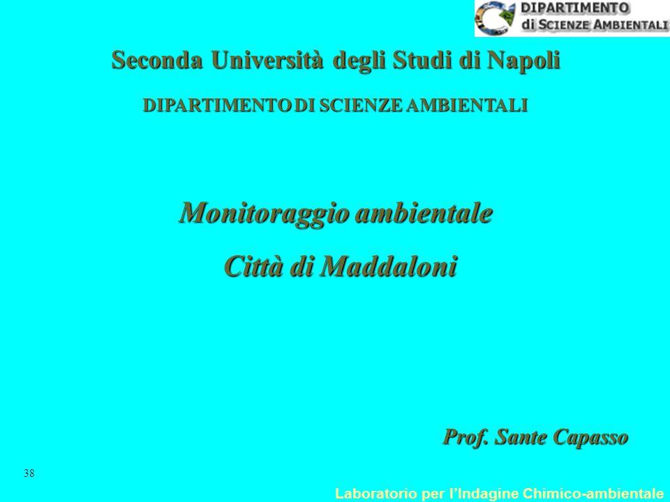 Laboratorio per l'Indagine Chimico-ambientale 38 Monitoraggio ambientale Città di Maddaloni Città di Maddaloni Prof. Sante Capasso Seconda Università