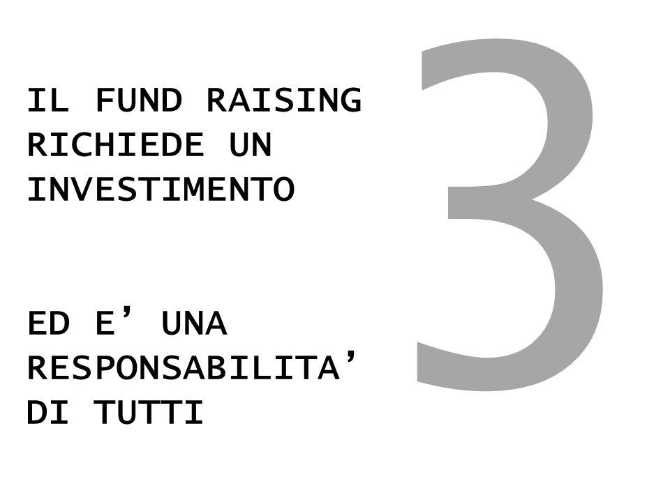 IL FUND RAISING RICHIEDE UN INVESTIMENTO ED E' UNA RESPONSABILITA' DI TUTTI 3