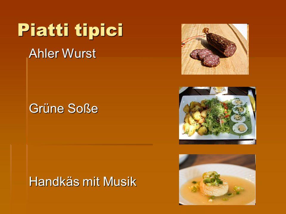 Piatti tipici Ahler Wurst Grüne Soße Handkäs mit Musik