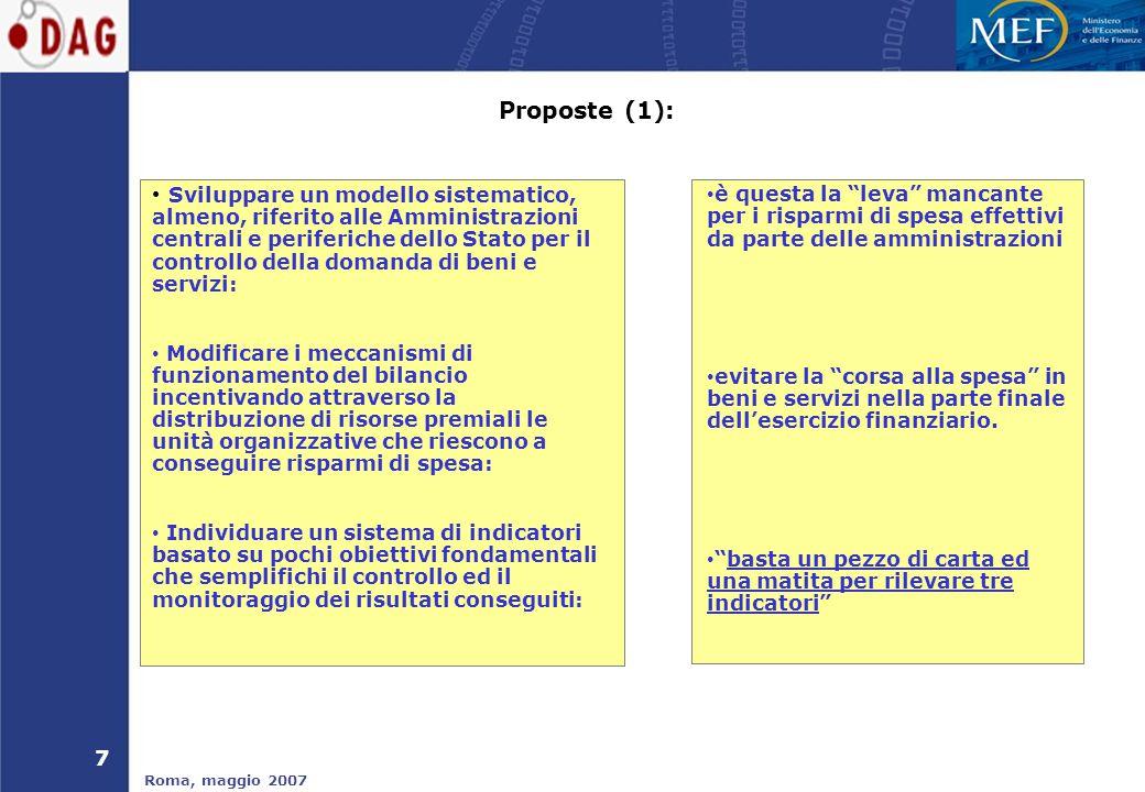 8 Roma, maggio 2007 Proposte (2): ……e oltre…..