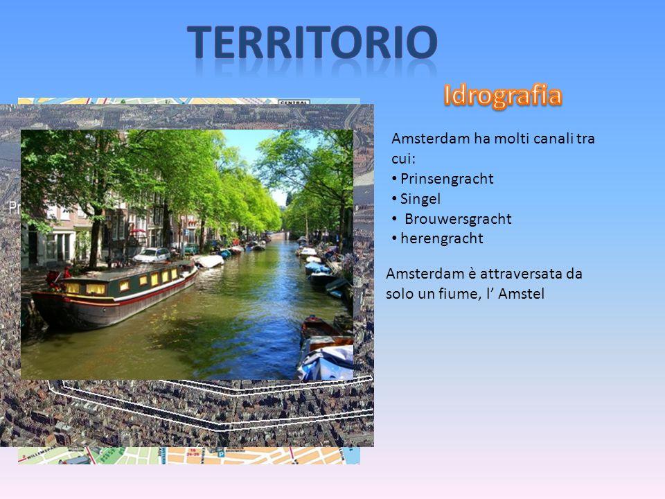 Amsterdam ha molti canali tra cui: Prinsengracht Singel Brouwersgracht herengracht Amsterdam è attraversata da solo un fiume, l' Amstel
