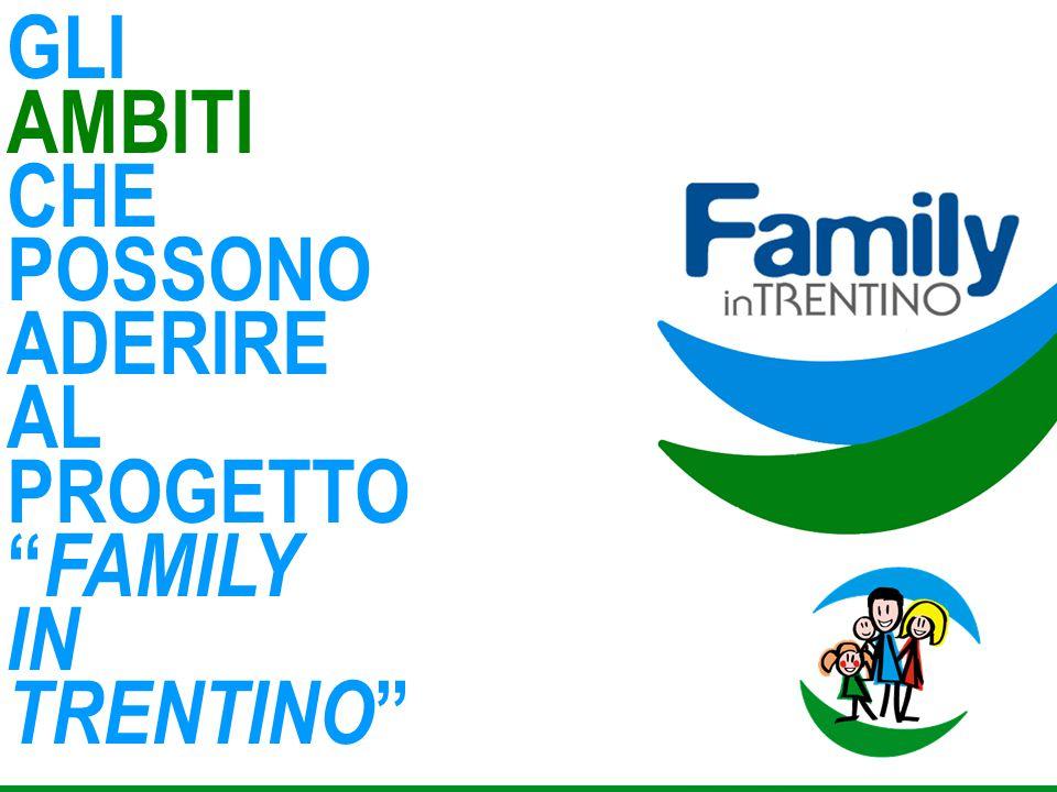 """GLI AMBITI CHE POSSONO ADERIRE AL PROGETTO """" FAMILY IN TRENTINO """""""