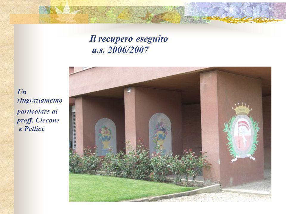Un ringraziamento particolare ai proff. Ciccone e Pellice Il recupero eseguito a.s. 2006/2007