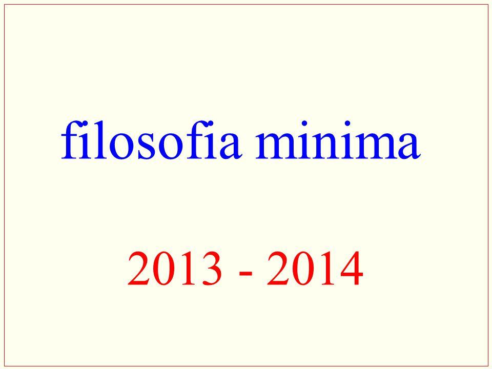 filosofia minima 2013 - 2014