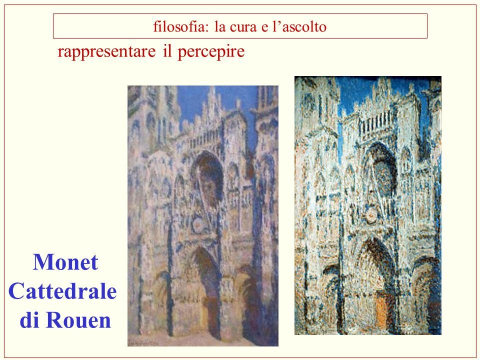 rappresentare il percepire filosofia: la cura e l'ascolto Monet Cattedrale di Rouen
