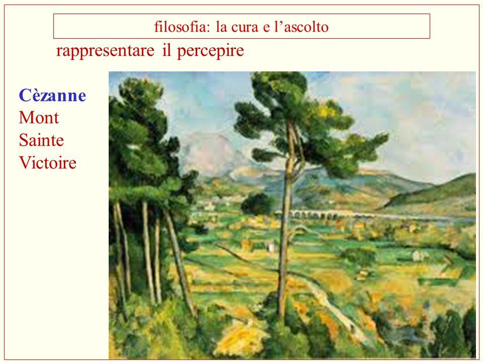 rappresentare il percepire Cèzanne Mont Sainte Victoire filosofia: la cura e l'ascolto