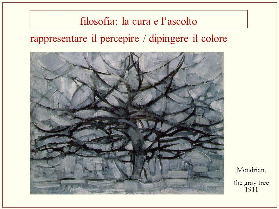 filosofia: la cura e l'ascolto Mondrian, the gray tree 1911 rappresentare il percepire / dipingere il colore