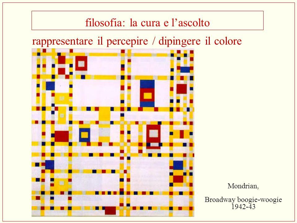 filosofia: la cura e l'ascolto Mondrian, Broadway boogie-woogie 1942-43 rappresentare il percepire / dipingere il colore