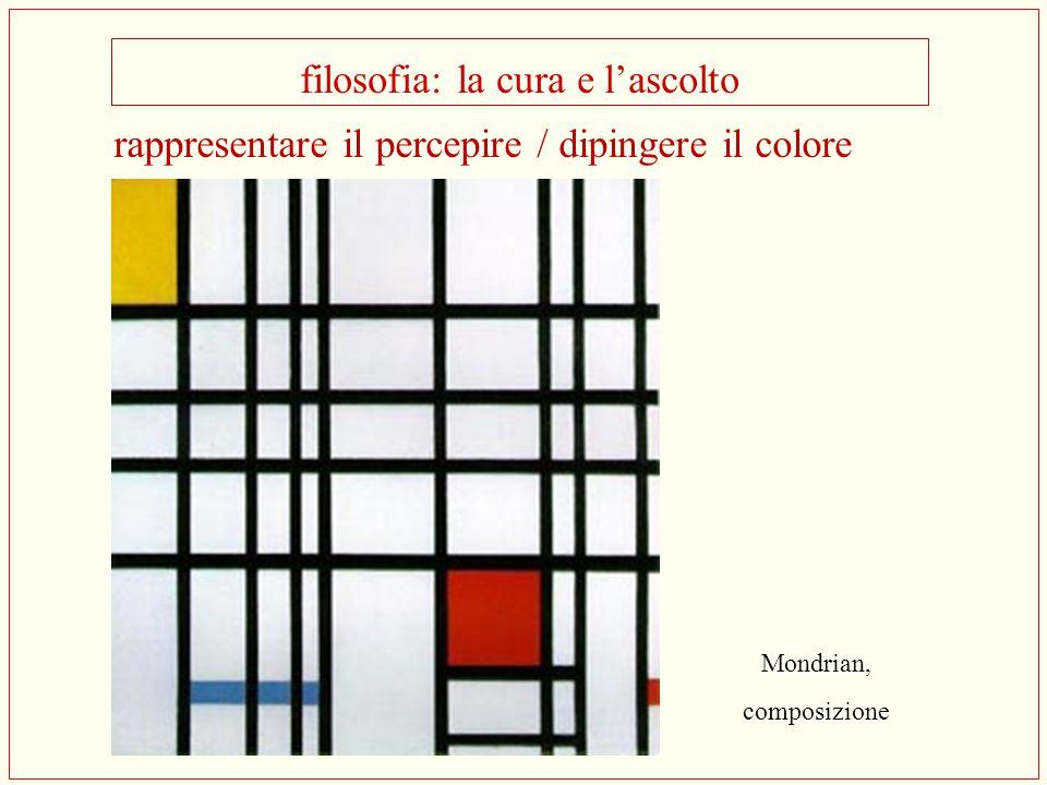 filosofia: la cura e l'ascolto Mondrian, composizione rappresentare il percepire / dipingere il colore