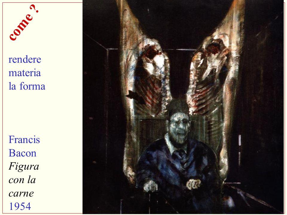 rendere materia la forma Francis Bacon Figura con la carne 1954
