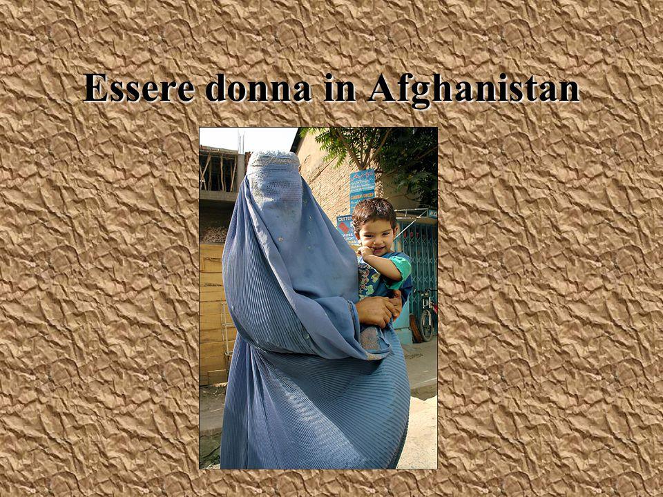 Donne e talebani 1996-2001 Lista in 29 punti, eccone alcuni: –Divieto per le donne di essere trattate da dottori maschi – Divieto per le donne di portare tacchi alti perché producono suono quando camminano ( Un uomo non deve sentire i passi di una donna)