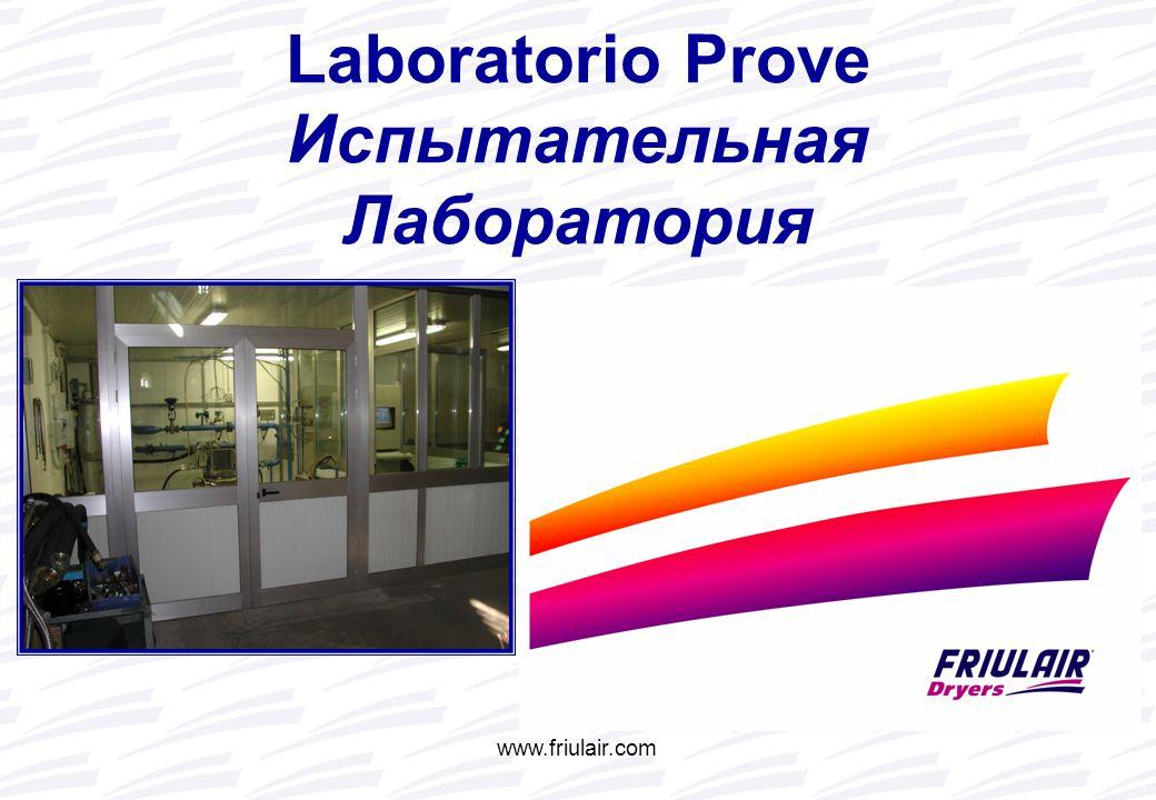 www.friulair.com Испытательная Лаборатория Laboratorio Prove