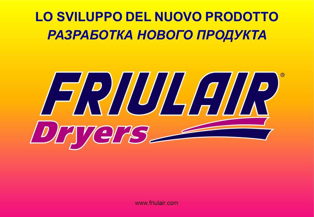 www.friulair.com РАЗРАБОТКА НОВОГО ПРОДУКТА LO SVILUPPO DEL NUOVO PRODOTTO