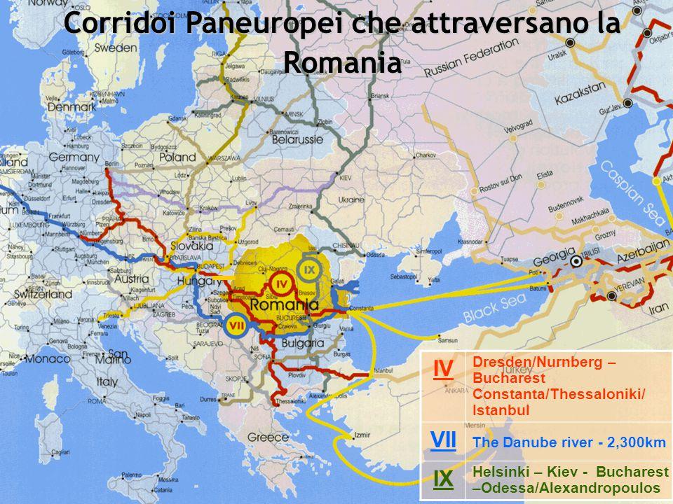 3 PAN EUROPEAN CORRIDORS CROSSING ROMANIA Helsinki – Kiev - Bucharest – Odessa/Alexandropoulos Corridoi Paneuropei che attraversano la Romania IV Dres