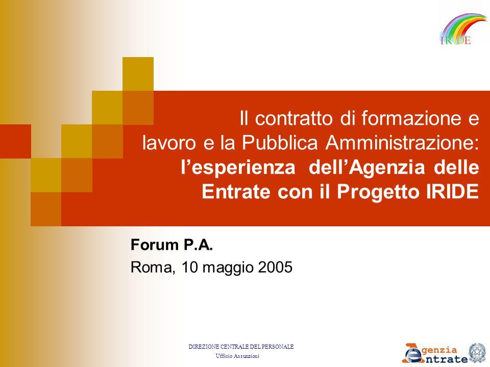 DIREZIONE CENTRALE DEL PERSONALE Ufficio Assunzioni Forum P.A.