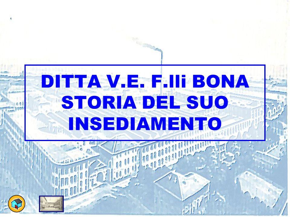 DITTA V.E. F.lli BONA STORIA DEL SUO INSEDIAMENTO