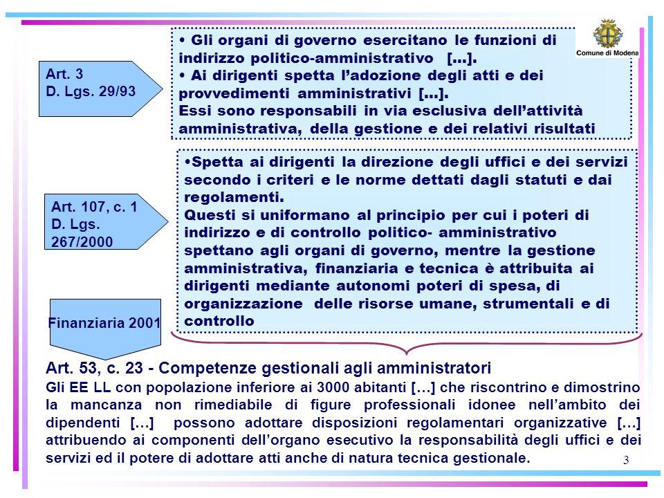 3 Spetta ai dirigenti la direzione degli uffici e dei servizi secondo i criteri e le norme dettati dagli statuti e dai regolamenti.