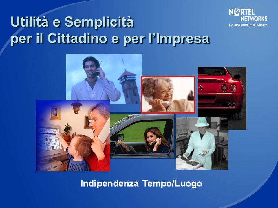 Utilità e Semplicità per il Cittadino e per l'Impresa Indipendenza Tempo/Luogo