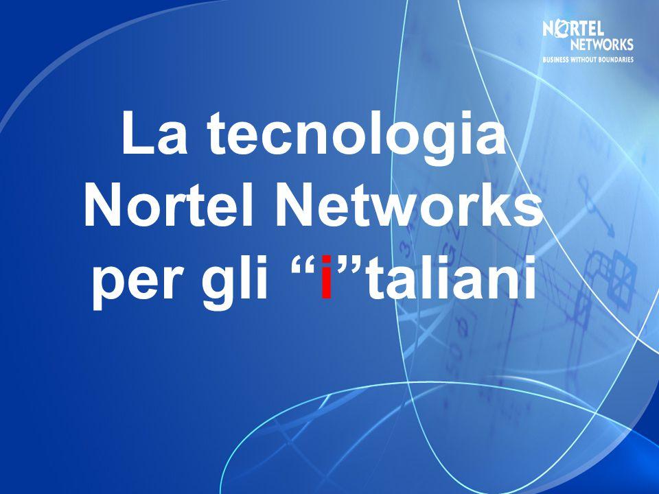 La tecnologia Nortel Networks per gli i taliani