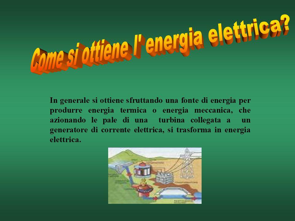 In generale si ottiene sfruttando una fonte di energia per produrre energia termica o energia meccanica, che azionando le pale di una turbina collegat