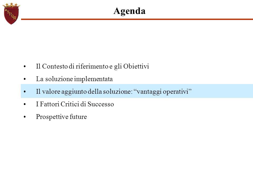 """Agenda Il Contesto di riferimento e gli Obiettivi La soluzione implementata Il valore aggiunto della soluzione: """"vantaggi operativi"""" I Fattori Critici"""