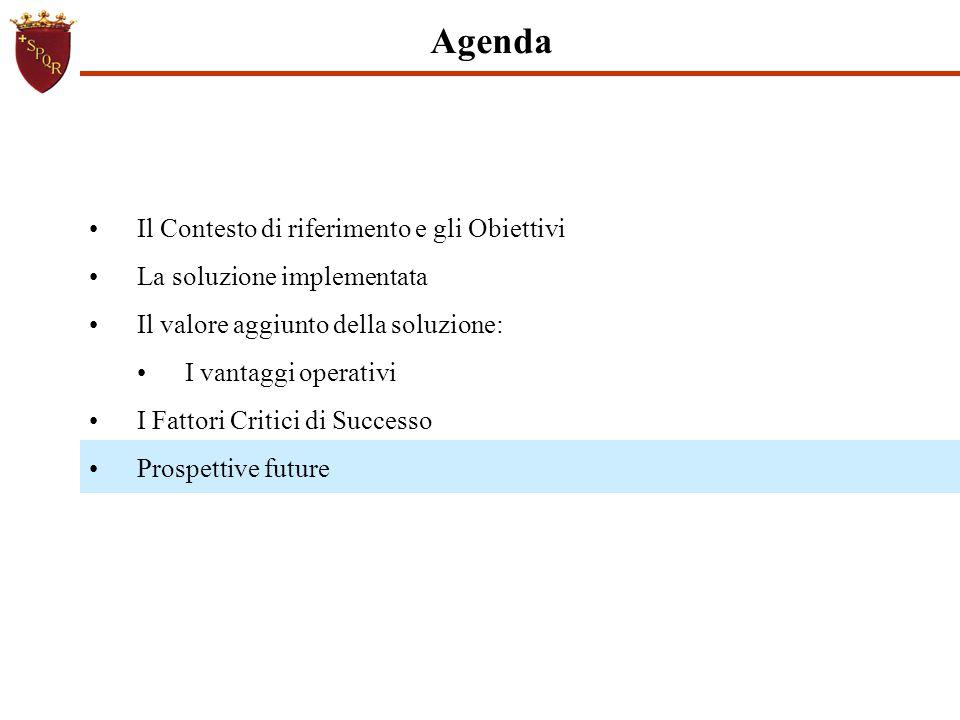 Agenda Il Contesto di riferimento e gli Obiettivi La soluzione implementata Il valore aggiunto della soluzione: I vantaggi operativi I Fattori Critici
