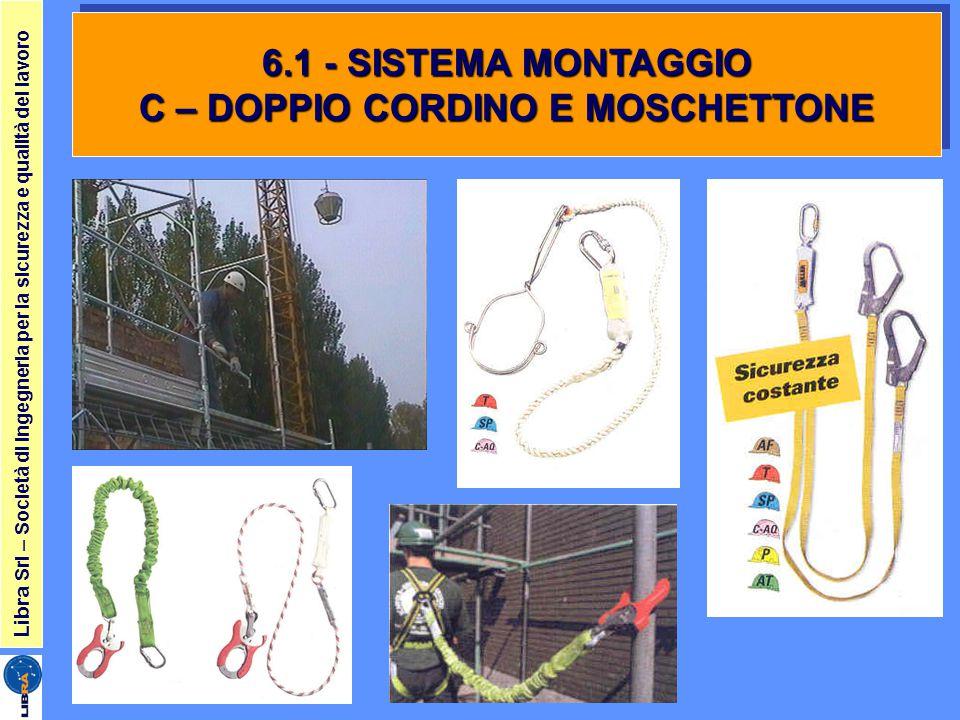 Libra Srl – Società di ingegneria per la sicurezza e qualità del lavoro 6.1 - SISTEMA MONTAGGIO C – DOPPIO CORDINO E MOSCHETTONE